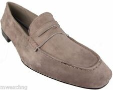 CESARE PACIOTTI US 11 FANCY SOFT SUEDE LOAFERS ITALIAN DESIGNER MENS SHOES