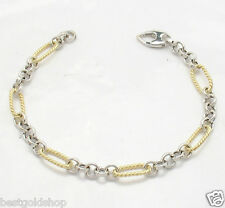 5.30gr 6mm Polished Rolo Link Bracelet REAL 14K Yellow White Gold ALL SIZES