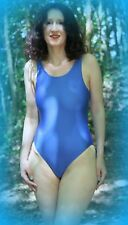 Mujer 34in Pecho Escuela Bañador de Natación Nailon Elastano Azul Real