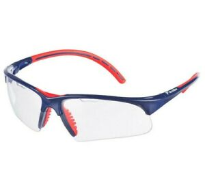 TECNIFIBRE PROTECTIVE EYEWEAR GOGGLES WITH CARRY BAG BLUE RED TRIM - RRP £25