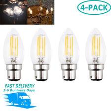Bonlux 4X4W B22 Bayonet Filament LED Candle Bulb C35 BC LED 40W Replacement Bulb