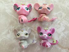 Littlest Pet Shop RARE Baby Rat Mice Mouse Curly Tail Pink 2165 2206 EASTER Lot