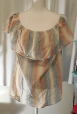 Vintage America Blues Womens Striped Off the Shoulder Size 3X NWT$64 BIN$23