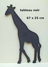 tableau noir en forme de girafe, décoration murale, enfant, maison, effaçable