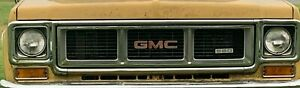 1973 1974 GMC Truck Grill Chrome Trim Parking Lights Tail Lights Square Body