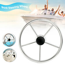 316 Stainless Steel 13.5'' Boat Steering Wheel 25Degree 5 Spoke For Marine Yacht