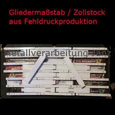 Zollstock / Gliedermaßstab in weiß, 2m Holz Meterstab aus der Fehlproduktion