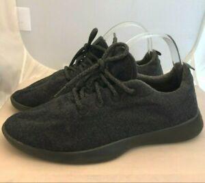 All Birds Dark Gray Black Wool Runners Comfort Shoes Men's Size 10