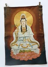 Tibet Collectable Silk Hand Painted Guanyin Painting Thangka
