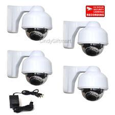 4x 700TVL Outdoor IR Dome Security Camera w SONY Effio CCD 3.5-8mm Len Power CCF