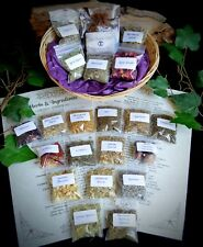 Witches Starter kit Basket herbs Wicca Pagan Yule  Herb sachet Gift Leaflet