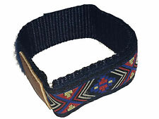 Blue Velcro Watch Strap 20mm with Pattern