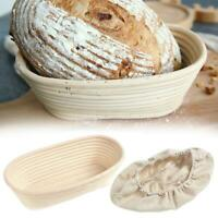 Rattan Fermentation Woven Dough Bread Proofing Prüfkorb mit Stoffbezug