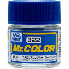 GSI CREOS GUNZE MR HOBBY Color C322 Phthalo Cyanine Blue LACQUER PAINT 10ml NEW