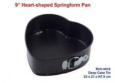 9 Inch Heart-shaped Deep Springform Pan Non-stick Loose Base Cake Tin RRP $35