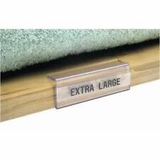 Clear Wood Shelf Label Holders, 25 per bag, 37526