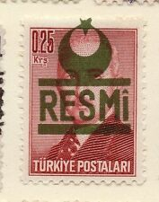 Turkey 1955-56 Optd Resmi Star & Crescent Issue Fine Mint Hinged 0.25k. 085963