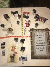 Rottweiler Dog Ornaments Keychain Magnet Tapestry Statue Cut Wood Like Stamp Lot