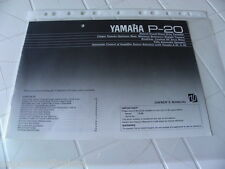 Yamaha P-20 Owner's Manual Operating Instruction New