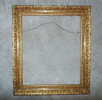 "19c Picture Frame Gilt Wood & Gesso for Painting Portrait Mirror 30"" x 25 1/2"""