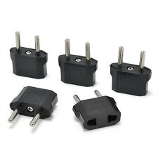 Hot 5Pcs US USA to EU Euro Europe Power Wall Converter Travel Adapter Adaptor