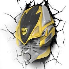 Transformers Bumblebee Autobot 3D FX Deco Wall Light Room LED Night Nightlight