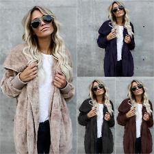 Damen Sweater Jacken Sweatshirt Faux-Pelz Pullover Strickjacke Cardigan Mantel
