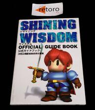 GUIA GUIDE BOOK SHINING WISDOM Sega Saturn Official Guidebook