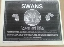 SWANS Love Of Life 1992 UK Press ADVERT 12x8 inches
