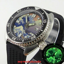 45mm bliger Luminous Kanagawa Surfing dial sapphire NH35A automatic mens watch