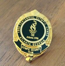 Olympic Security Team Black Mini Badge Atlanta 1996 Olympic Security Pin