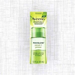 Aveeno Positively Radiant Maxglow Serum Plus Primer 1.5 fl oz 45 mL
