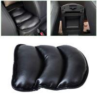 1x Black Car Center Console Armrest Box Pad Cover PU Leather Mat Accessory