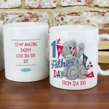 Personalised Me To You 1st Father's Day Mug For New Dad, Daddy Official Gift