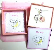 Mummy I Love you to the Moon and Back Necklace Christmas, Mother's Day, Birthday