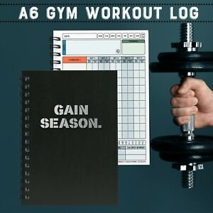 A6 HIIT EXERCISE DIARY/GYM BUDDY/LOG BOOK/ WEIGHT LOG BOOK/HOME/WORKOUT/FITNESS