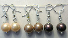 Lab-Created/Cultured Pearl Costume Earrings