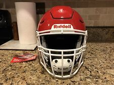 Riddell Revo SPEED FLEX Football Helmet Red w/ White Facemask Adult X-Large XL
