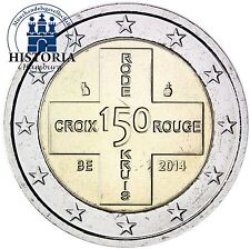 Münzen aus Belgien nach Euro-Einführung mit Bi-Metall auf Stempelglanz