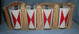 Set/4 Vintage 1960's Phillips 66 Drinking Glasses in Box-Gas Station Promo-NR