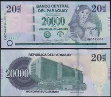 PARAGUAY 20000 GUARANIES (P238b) 2015 SERIE G UNC
