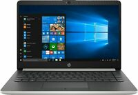 "HP Silver Notebook 14"" Intel Pentium Gold 2.3GHz 128GB SSD 4GB RAM Windows 10"