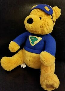 """Disney Store Authentic Winnie The Pooh Super Sleuth Plush LARGE 16"""" RETIRED NEW"""