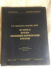 IC/VRW-6 Wire Recorder Operation & Service Manual Navy NAVSHIPS Brush Co. 1948