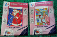 Lot 2 x 3 PASSE PARTOUTS Cards + Envelopes SILK Painting Gutta Collection Arty's
