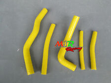 for Suzuki RM125 RM 125 1996-2000 SILICONE RADIATOR HOSE KIT YELLOW