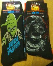 Yoda Darth Vader Stormtrooper Socks Mens 6-12 4 pairs new Star Wars Clone ROTJ