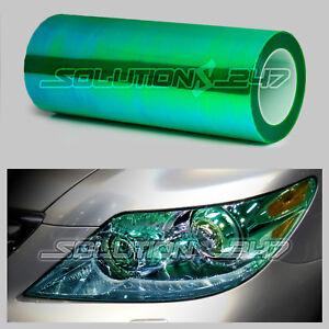 "Chameleon Neo Headlight Taillight Fog Gloss Vinyl Tint 12""x24"" / 1 x 2 FT GREEN"