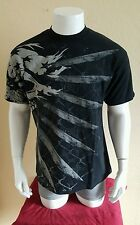 TapouT Skull Short Sleeve Black Tshirt Size Medium (paint marks)