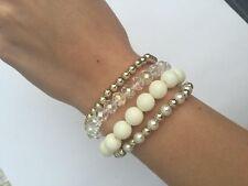Markenlose Modeschmuck-Armbänder aus Acryl mit Perlen (Imitation)
